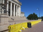 """Barriers blocking the South steps into the Capitol Bldg. Supposedly for """"safety"""", some see this as symbolic"""