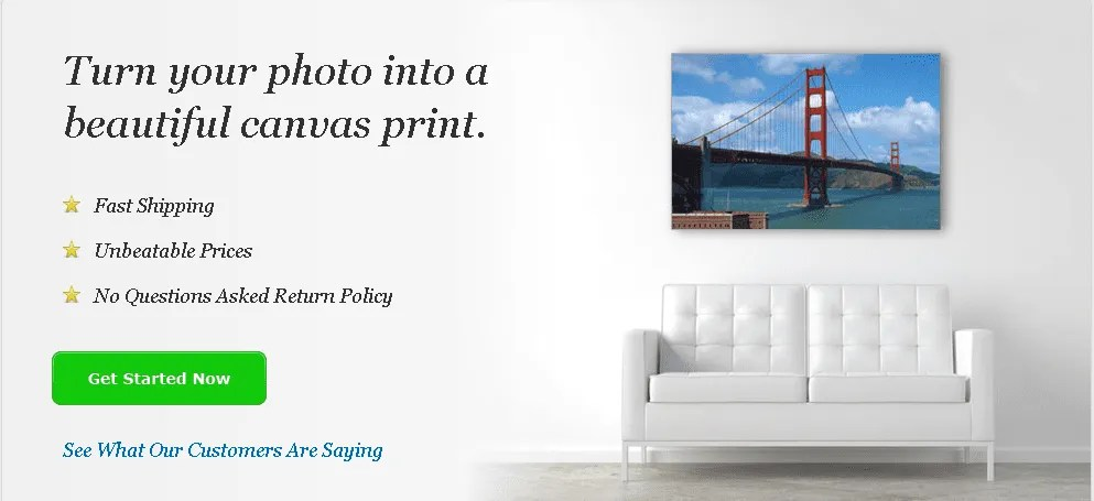 canvas printing with Gilmour photography