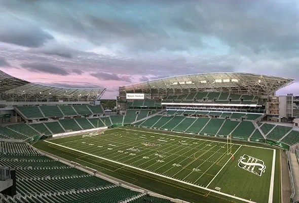 Photo of Mosaic Stadium in Regina, Canada by architectural photographer Brett Gilmour.