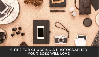 Graphic representing 6 tips for choosing a photographer in Calgary