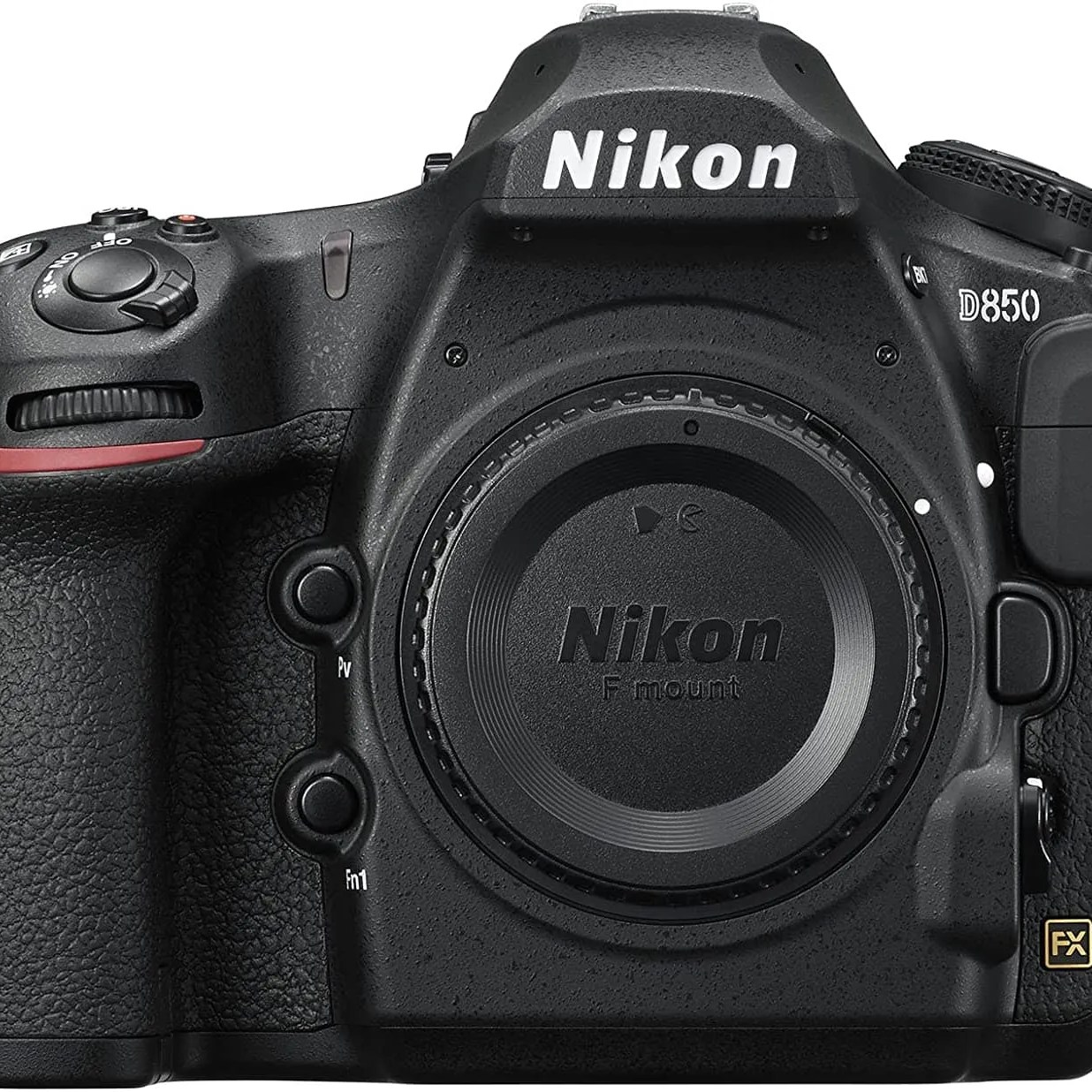 Photo of a Nikon D850, the main camera in our photography gear bag.