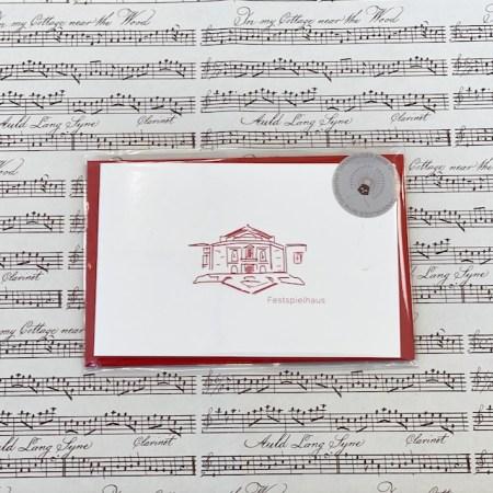 Bayreuth Buchhandlung Breuer und Sohn Karte Festspielhaus Rot