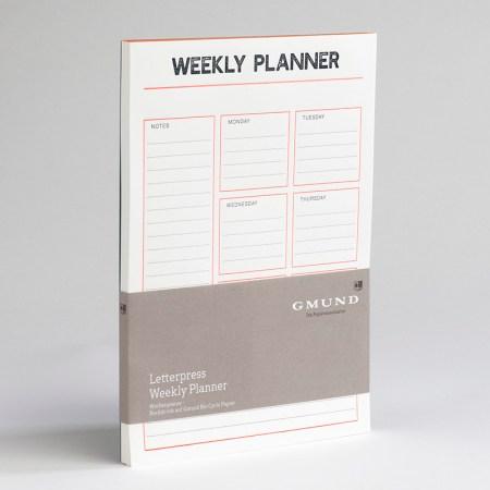 Bayreuth Buchhandlung Gmund Planer Letterpress Weekly