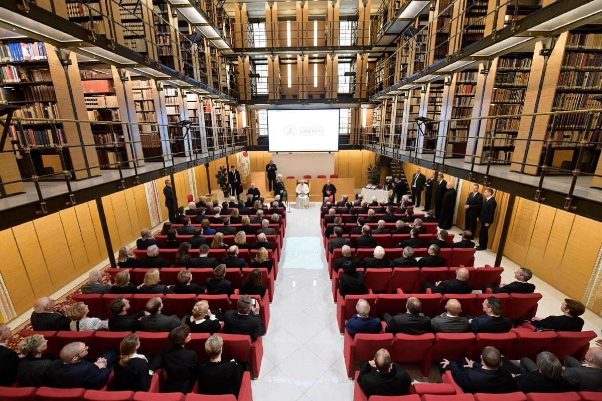 Pope Francis visits the Pontifical Oriental Institute