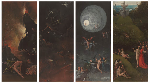 Hieronimus Bosch, Quattro visioni dell'Aldilà