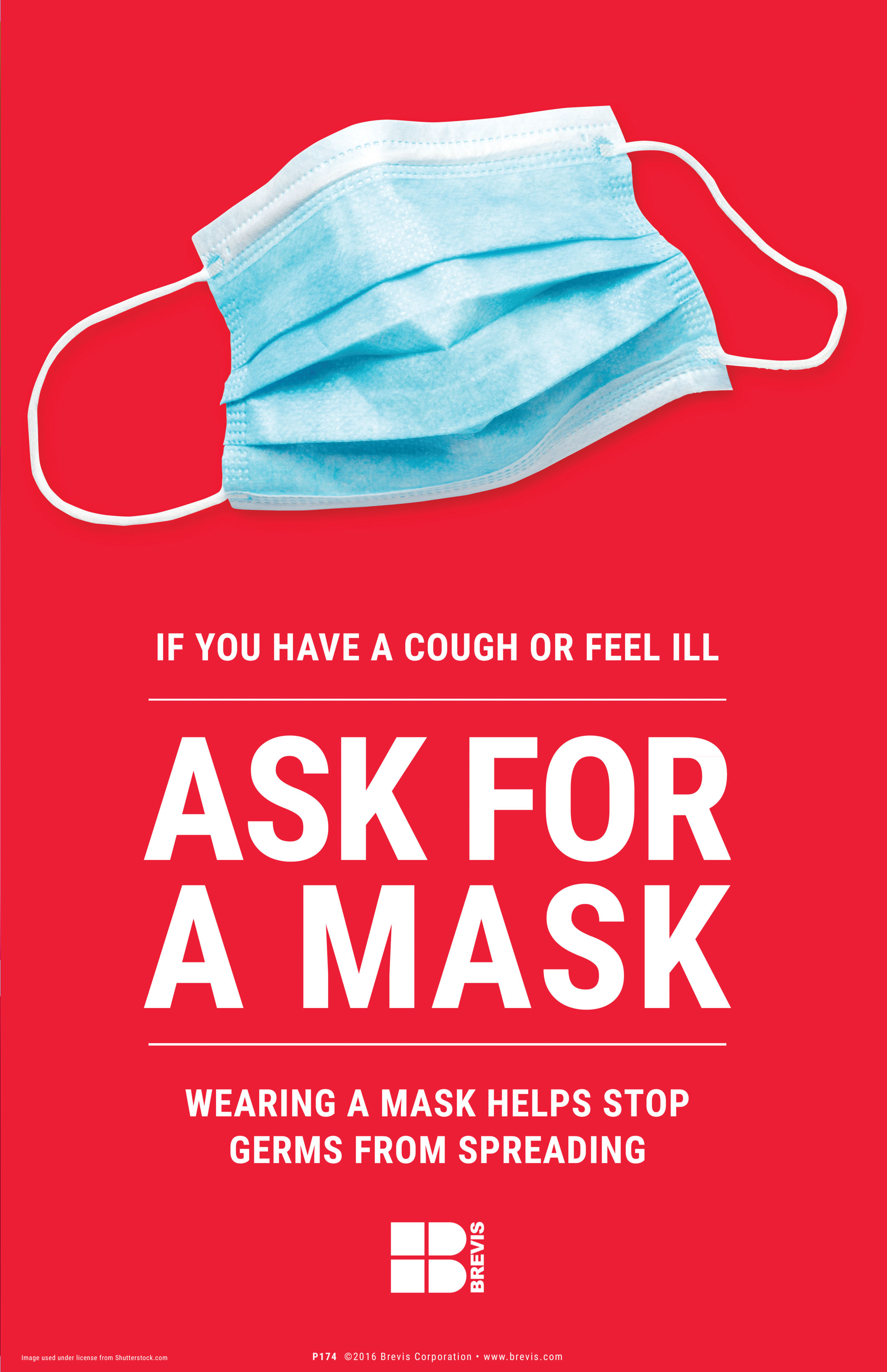 Ask For A Mask Poster  Brevis