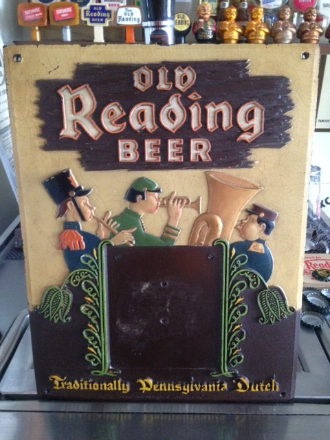 Old Reading Beer Calendar Sign
