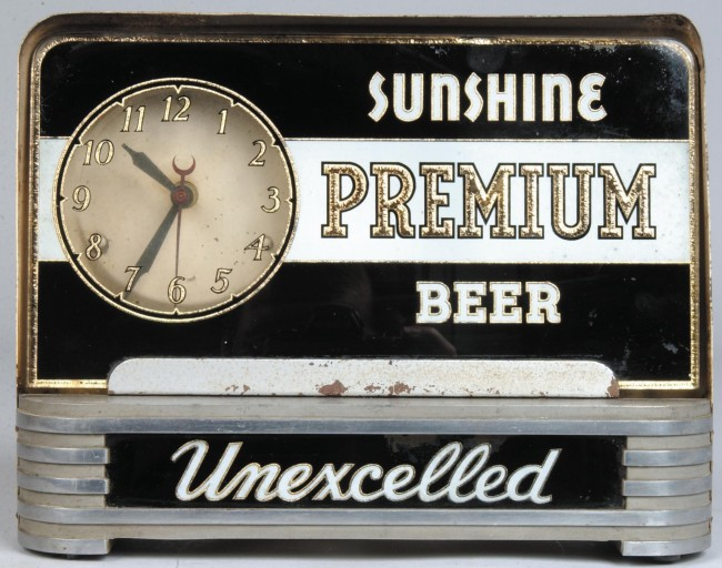Sunshine Bar Back Clock