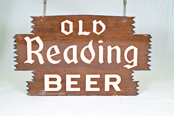 Old Reading Beer Porcelain Sign