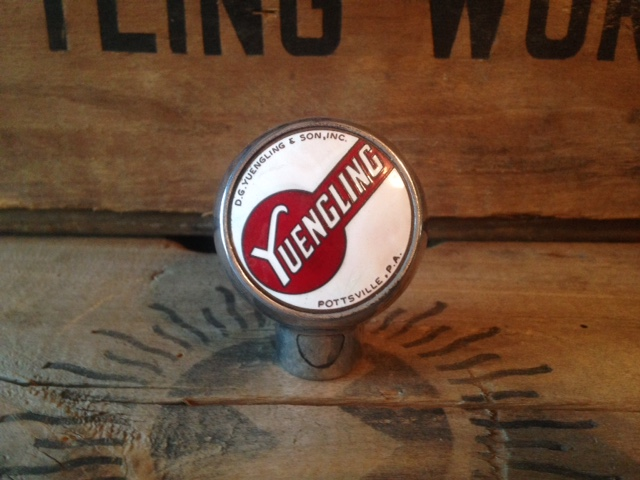 yuengling beer ball tap knob robbins