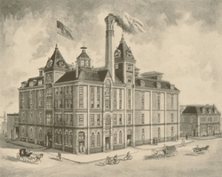 Peter Schemm Brewery Litho Etching
