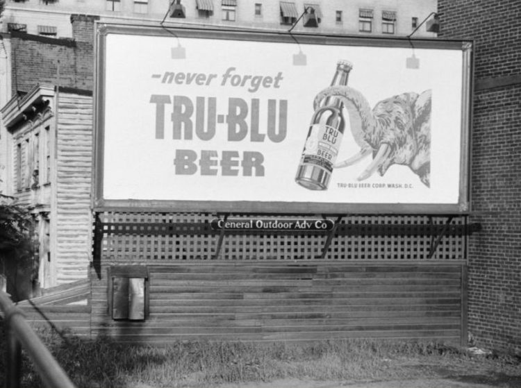 Northampton Brewery Tru-Blu Beer Billboard