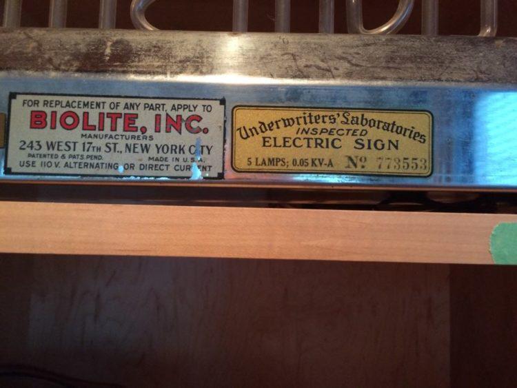 Biolite, Inc. Bubbler Sign Label