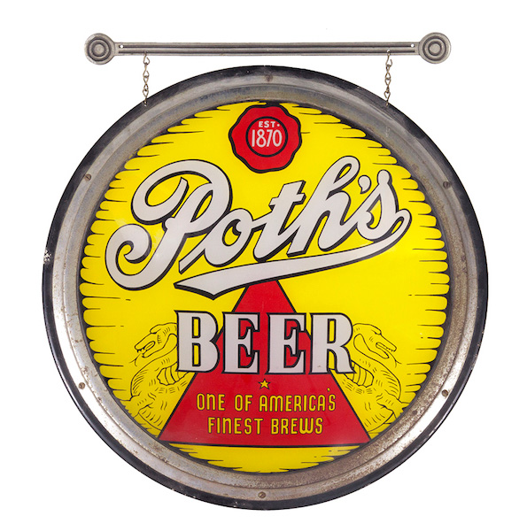 Poth's Beer Glass Sign