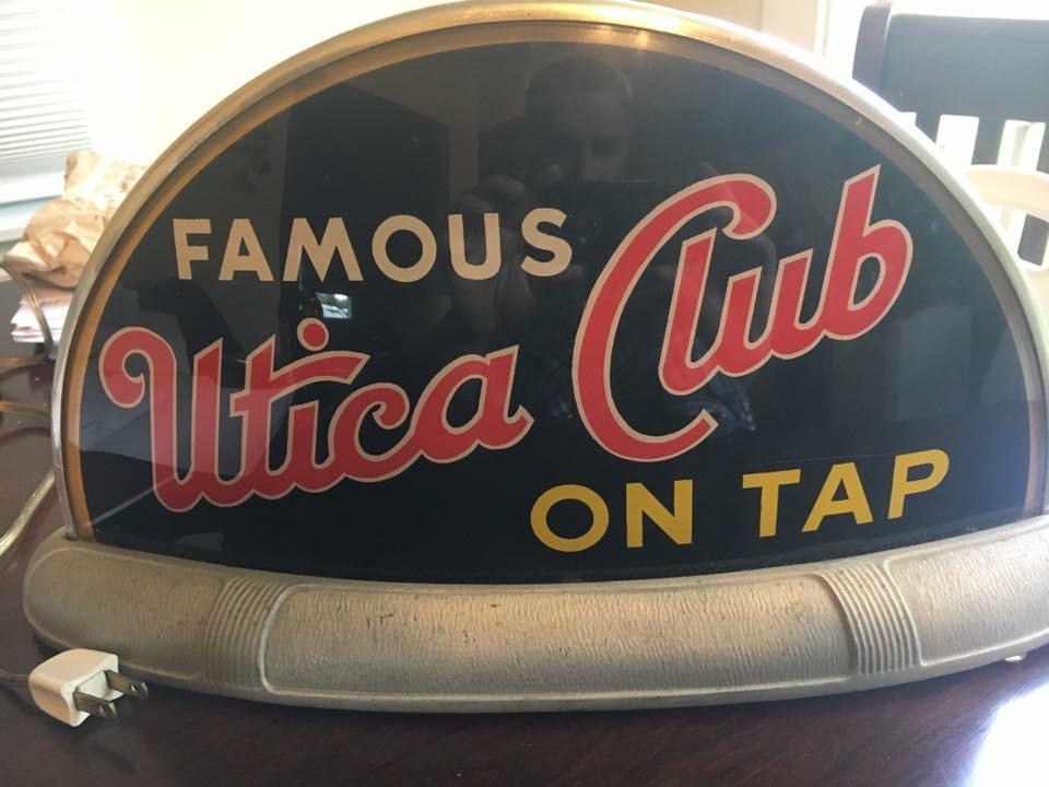 Utica Club On Tap Beer Sign