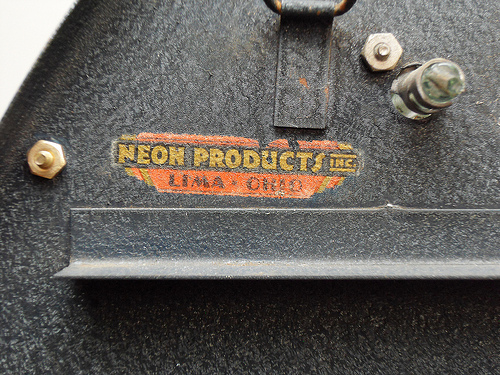Neon Products Inc. Label