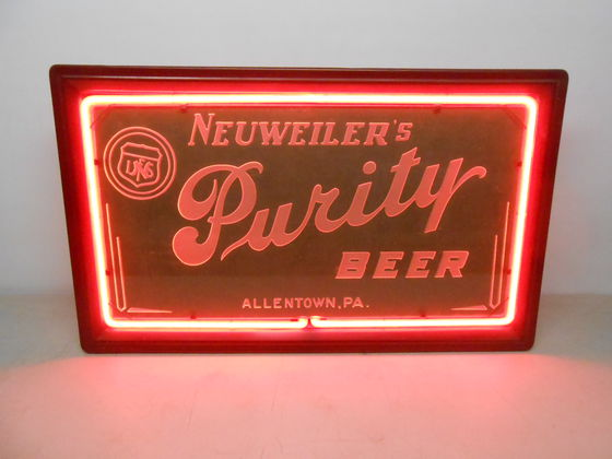 Neuweiler Purity Beer Neon Sign