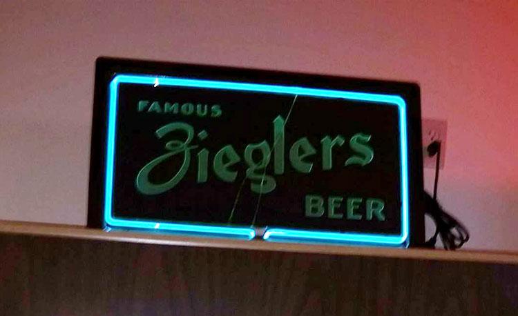 Ziegler Beer Neon Sign