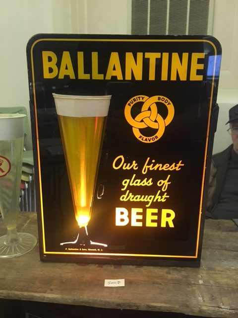 Ballantine Beer Bubbler SIgn