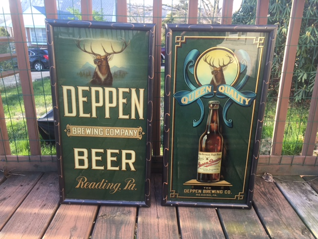 Deppen Beer Glass Corner Signs