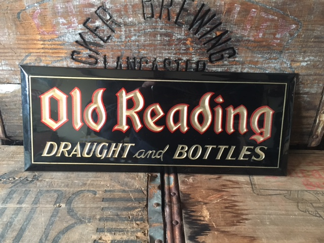 old reading draught and bottle sign