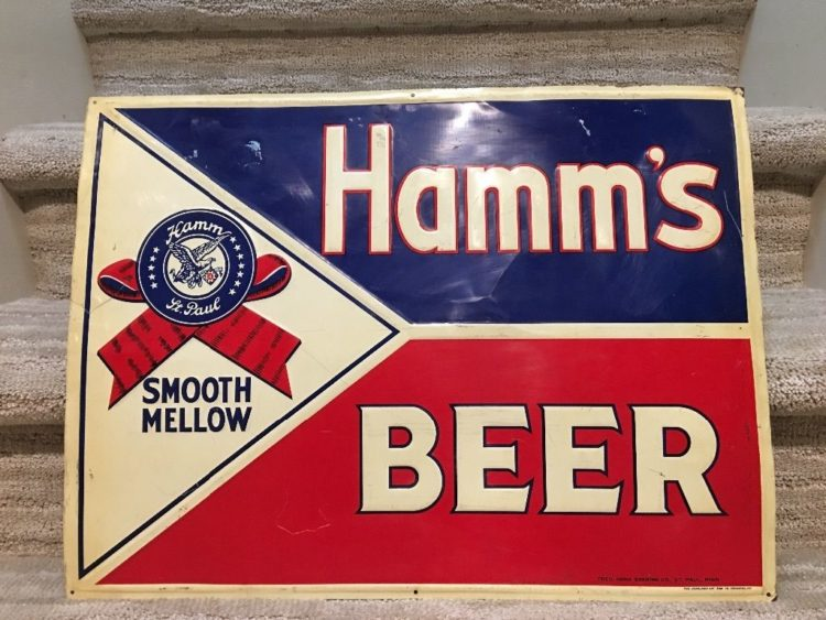 Hamm's Beer Tin Sign