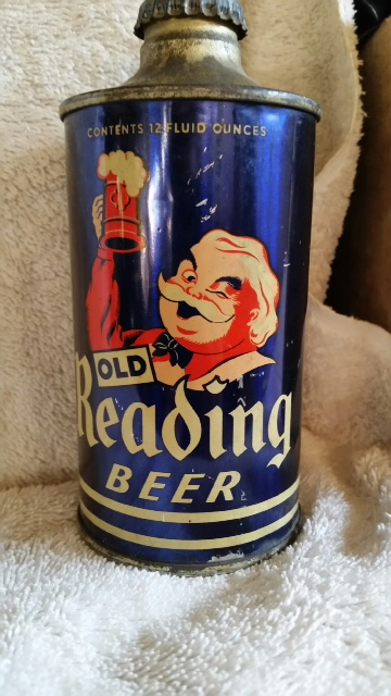 Old Reading Beer J-Spout Cone Top Can