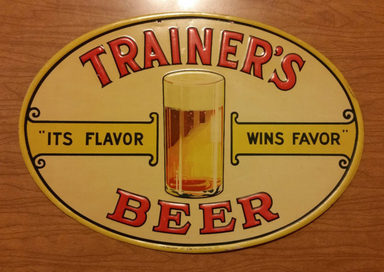 Trainer's Beer Tin Sign