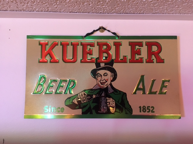 Kuebler Beer Ale Sign