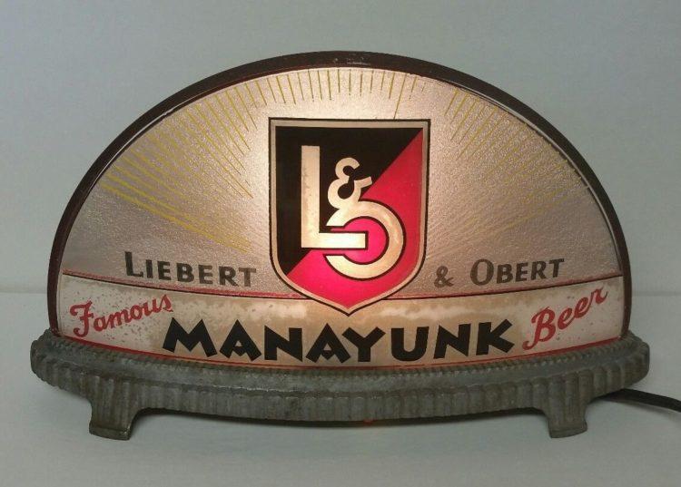 Liberty & Obert Famous Manayunk Beer Gillco Cab Light