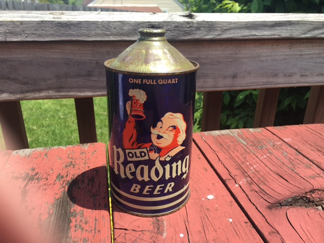 Old Reading Beer Quart Cone Top Can