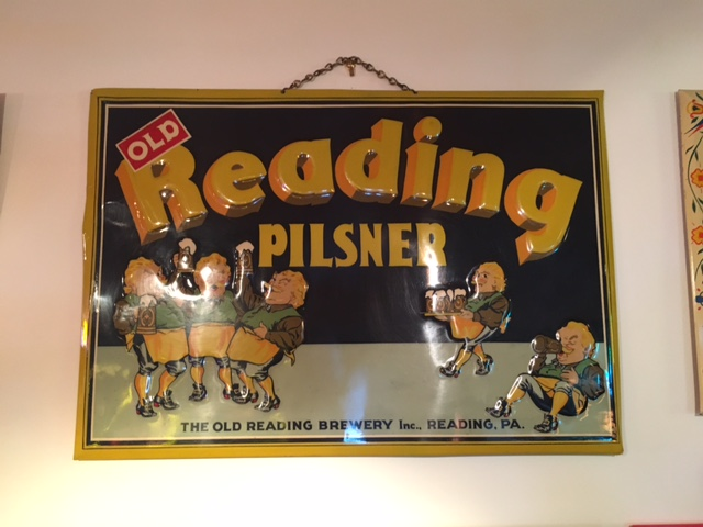 Old Reading Pilsner Beer Tin Sign