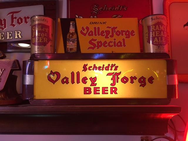 Scheidt's Valley Forge Beer Gillco Sign