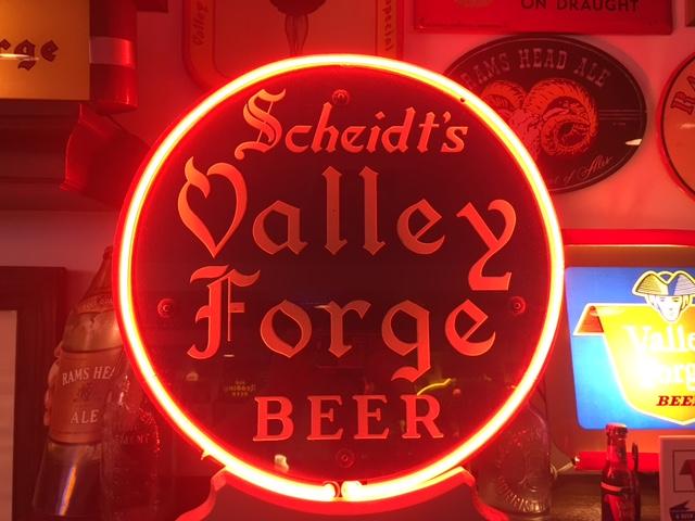 Scheidt's Valley Forge Beer Sign
