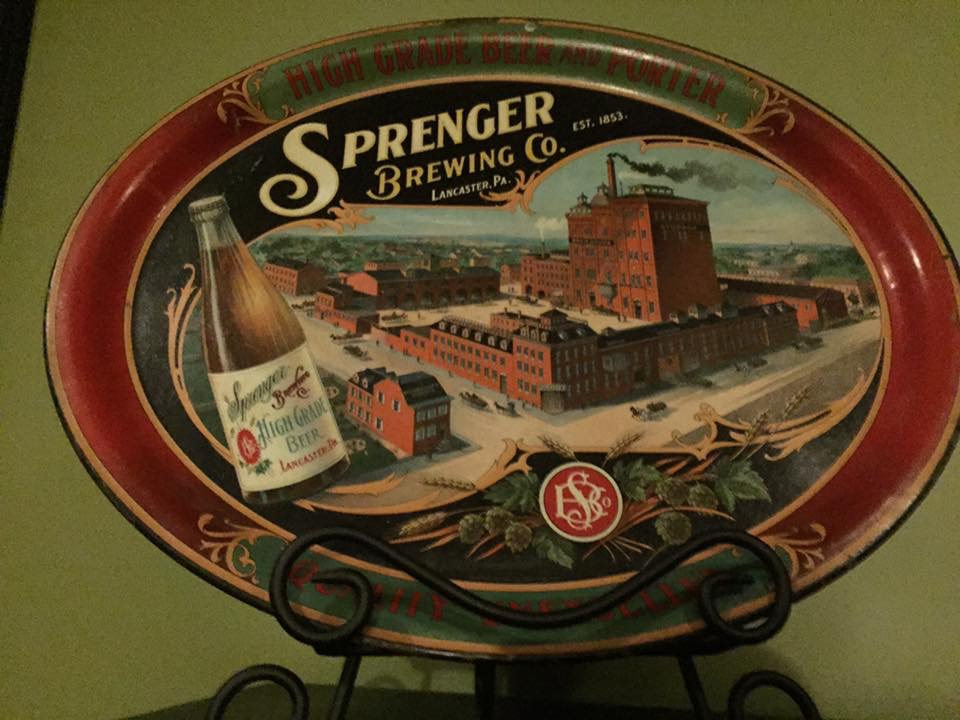 Sprenger Brewing Company Beer Tray