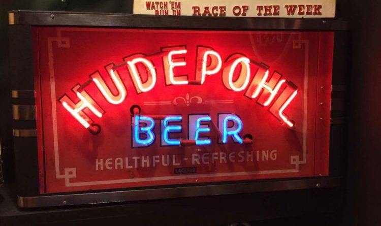 Hudepohl Beer Neon Sign