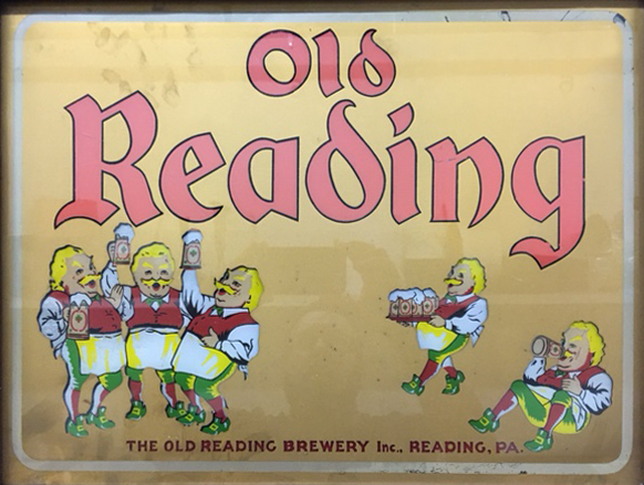 Old Reading Brewery Inc. Beer Reading PA Gillco Glass Sign