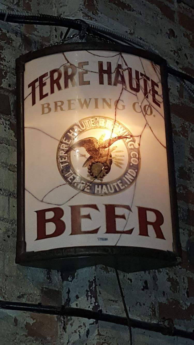 Terre Haute Brewing Co. Beer Vitrolite Sign
