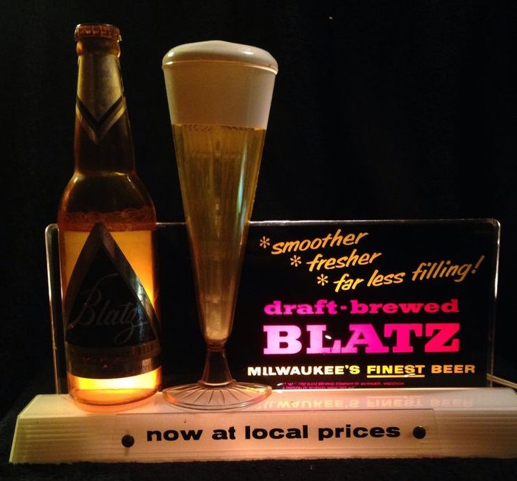 Blatz Beer Bubbler Sign