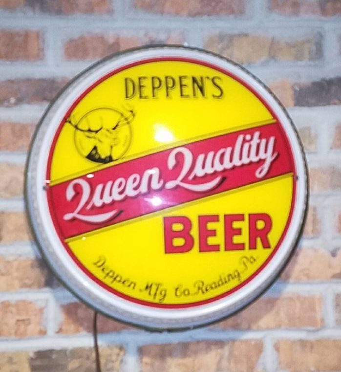 Deppen's Queen Quality Glass Sign