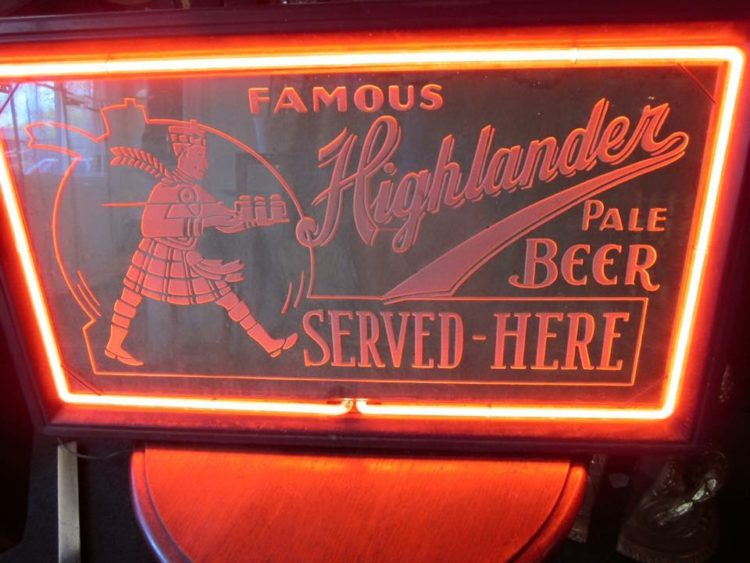 Famous Highlanders Pale Beer Neon Products Inc. Sign