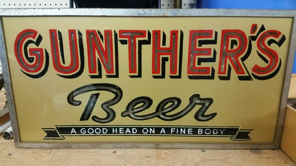 gunter beer sign Lumin-Art Display Corp