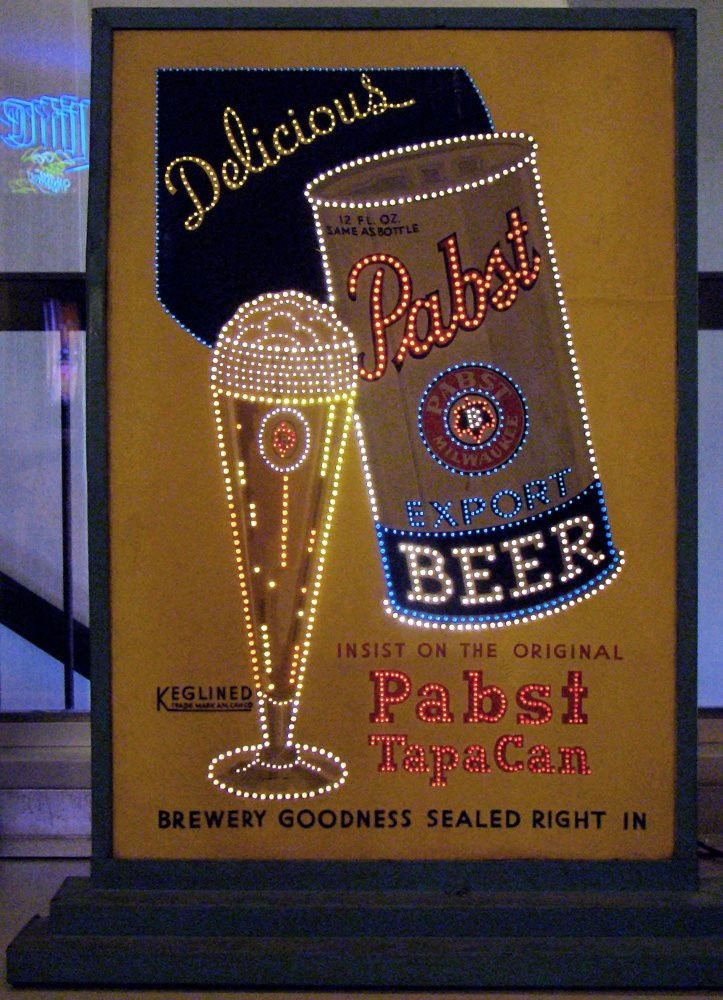 Pabst Export Beer Magnalite Corp. Lighted Sign