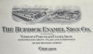 burdick enamel sign company