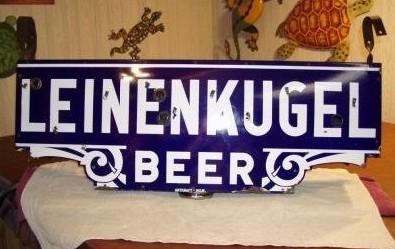 Leinenkugel Beer Porcelain Sign