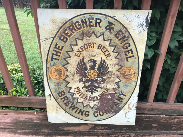Bergner & Engel Brewery Tin Sign