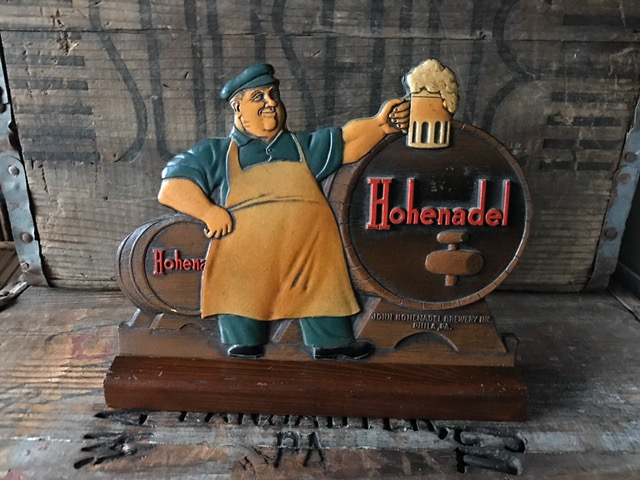 hohenadel beer composite sign kirby-coggeshall-steinau co
