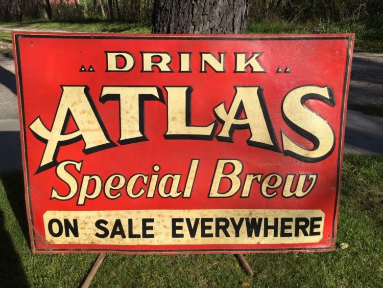 drink alias special brew stout sign company