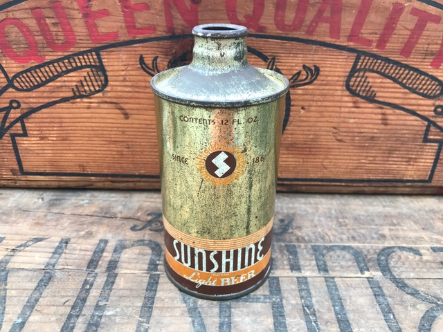 Sunshine Beer J-Spout Cone Top Can