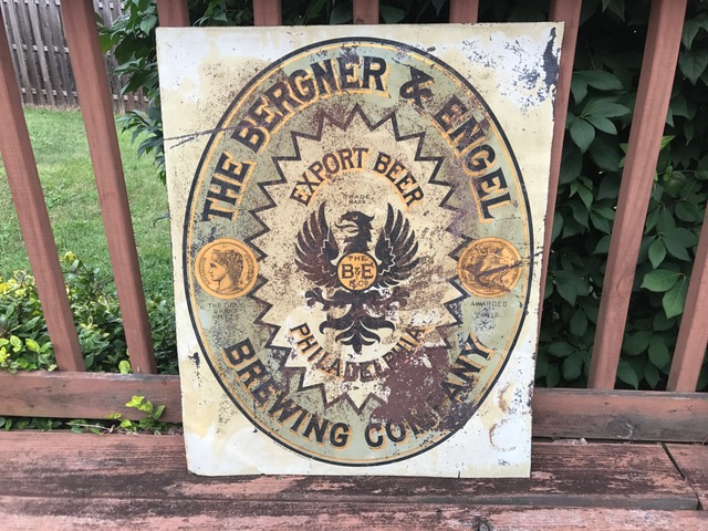 Bergner & Engel Export Beer Sign